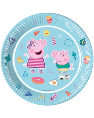 Set 8 party talířů Prasátko Peppa (23 cm)