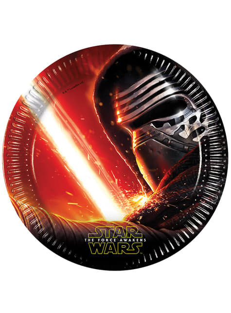 8 platos (23 cm) - Star Wars The Force Awakens