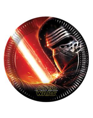 8 Star Wars Set Kuvvet Uyandırır 23 cm Tabaklar