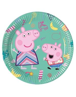8 platos de Peppa Pig (20 cm)