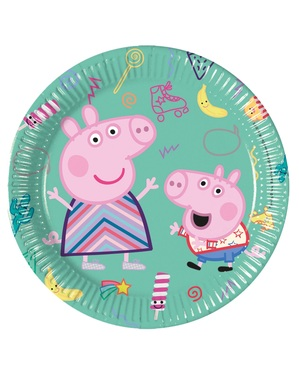 Set of 8 Pepper Pig Party Plates (20 cm)
