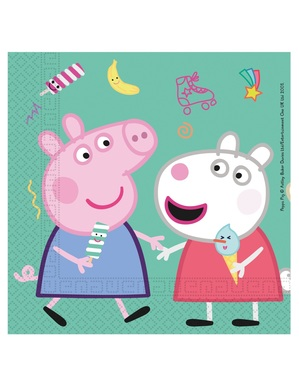 Set of 20 Pepper Pig Napkins (33 x 33 cm)