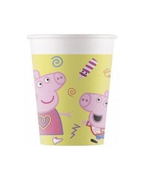 8 copos de Peppa Pig