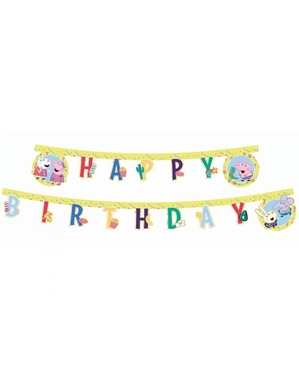 Festone Peppa Pig Happy Birthday