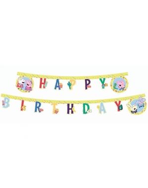 Ghirlandă Peppa Pig Happy Birthday