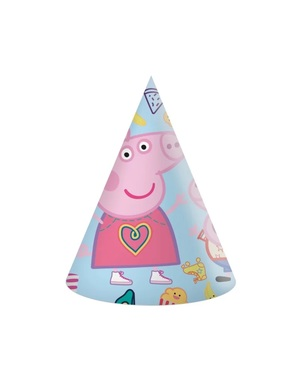 6 gorritos de cumpleaños de Peppa Pig