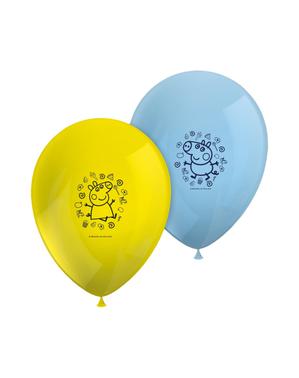8 ballons Peppa Pig variés