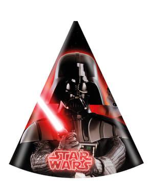 Sett med 6 Partyhatter Star Wars & Heroes