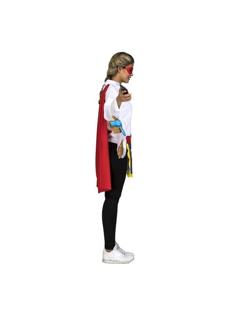 Disfraz de Súper Mamá blanco y azul para mujer