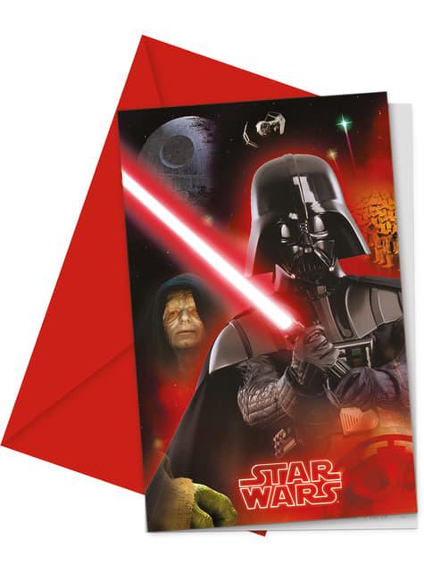 Set 6 uitnodigingen Star Wars & Heroes