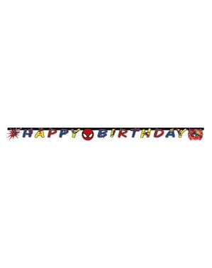 Girlanda Mega Spider-Man Power Happy birthday