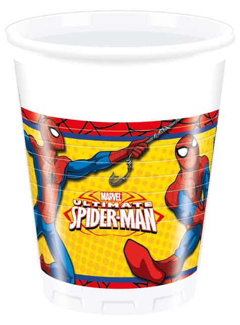 Set de 8 vasos Ultimate Spiderman Power