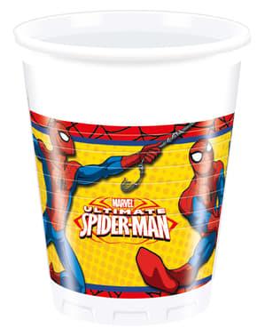 Sett med 8 Ultimate Spiderman Tøffe Kopper