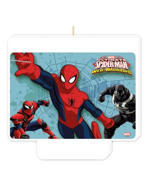 Prajurit Web Ultimate Spiderman Selamat Ulang Tahun Lilin
