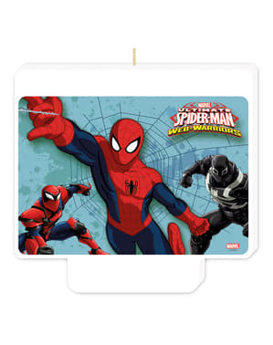 Web Warriors Ultimate Spiderman Happy Birthday stearinlys
