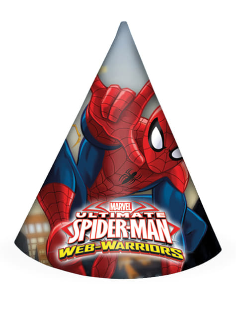 6 gorros Ultimate Spiderman Web Warriors