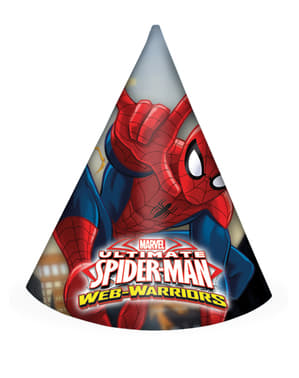 6 Ultimate Spiderman Web Warriors Party Hats