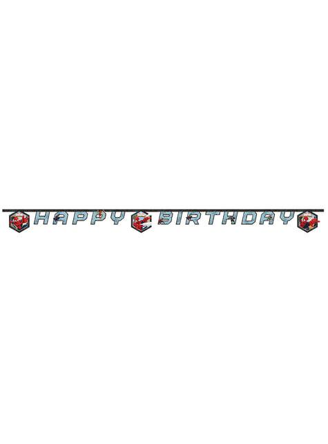 Guirnalda Happy birthday Ultimate Spiderman Web Warriors