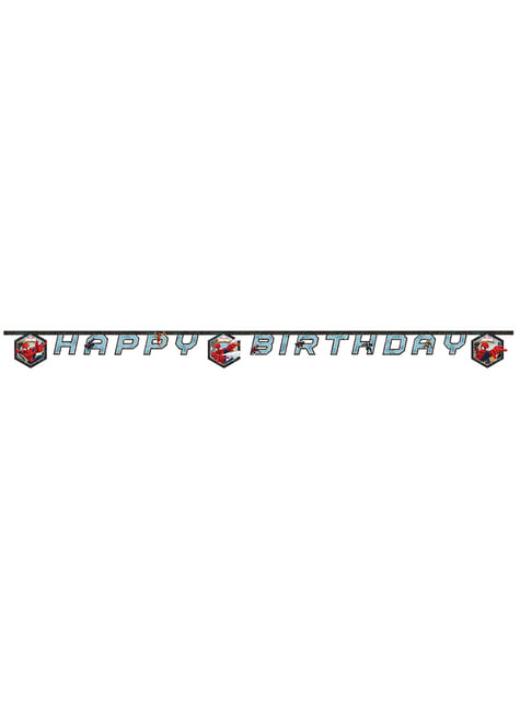 Ultimate Spiderman Web Warriors Happy Birthday Banner