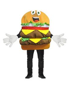 Disfraz de hamburguesa doble de queso para adulto