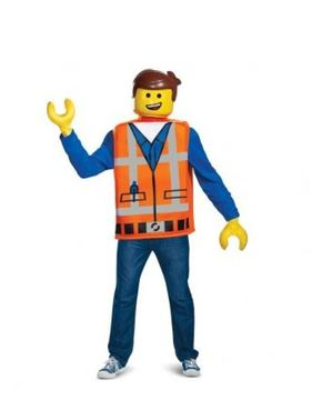 Fato de Emmet Lego para adulto