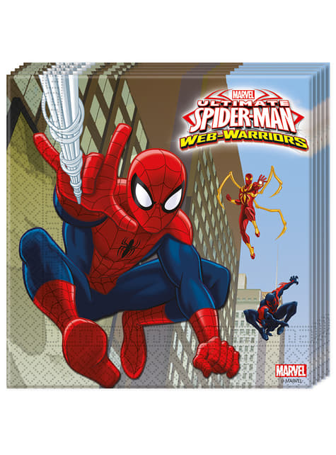 20 servilletas Ultimate Spiderman Web Warriors (33x33 cm)