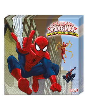Sett med 20 Ultimate Spiderman Web Krigere Servietter