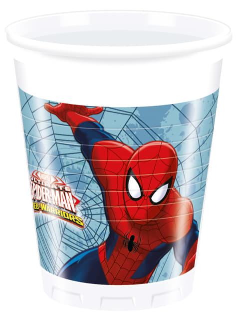 Set de 8 vasos Ultimate Spiderman Web Warriors