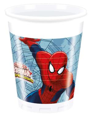 8 gobelets Ultimate Spiderman Web Warriors