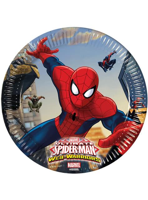 8 platos Ultimate Spiderman Web Warriors (20 cm)