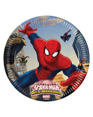 8 Ultimate Spiderman Web Warriors Plates (20 cm)