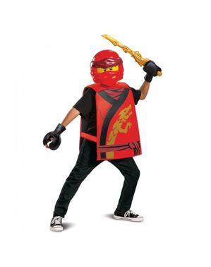 Kostým Kai Lego Ninjago