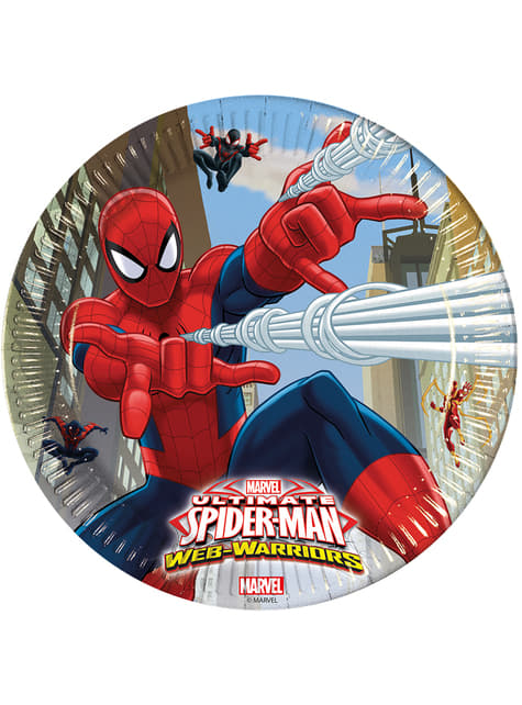 8 platos Ultimate Spiderman Web Warriors (23 cm)