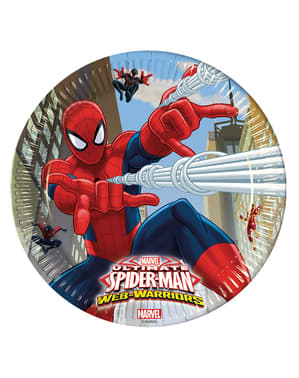 Sett med 8 Den ultimate Spider-Man Web Warriors 23 cm tallerker