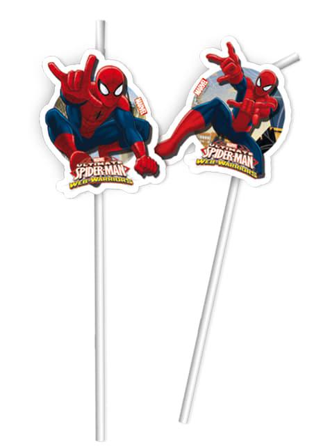 6 pajitas Ultimate Spiderman Web Warriors
