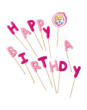 Disney Princess Happy Birthday stearinlys