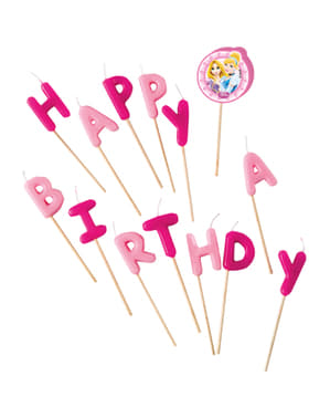 Disneyn Prinsessat Happy Birthday -kynttilät