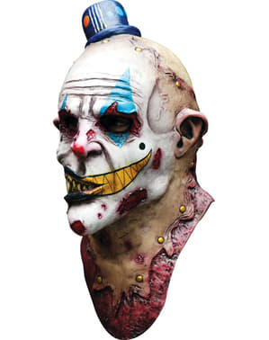 Pantomime Zombieclown Maske aus Latex