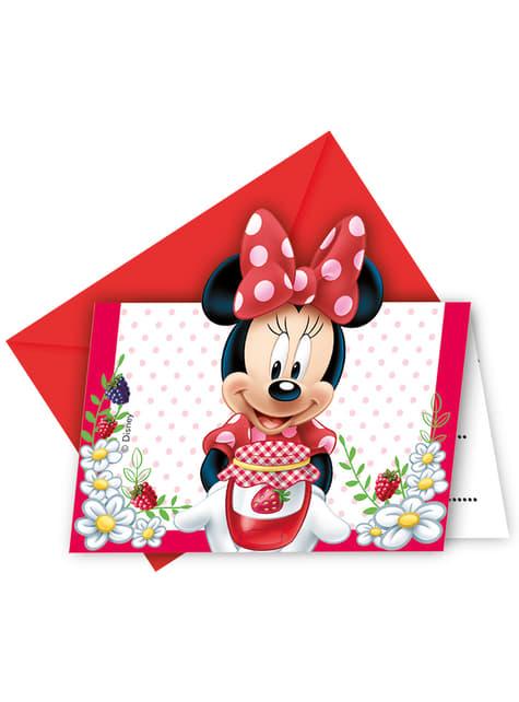 Set de 6 invitaciones Minnie Jam Packed with Love