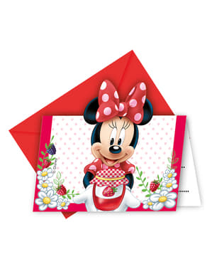 6 Minnie Jam Packed with Love Invitations