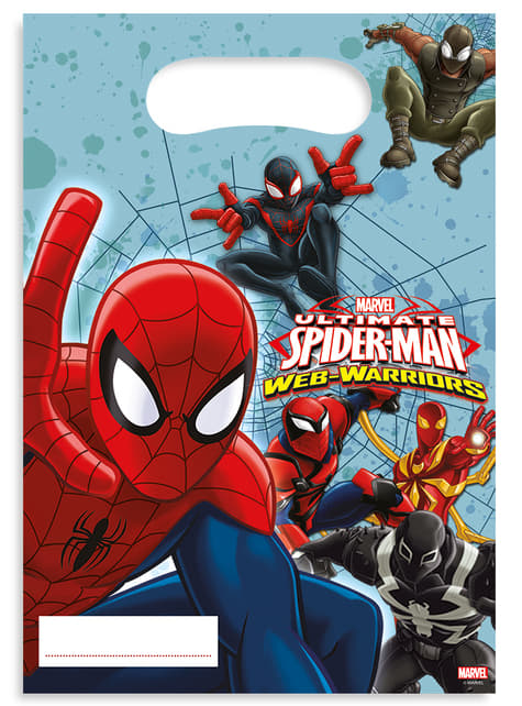 6 bolsas para chucherías Ultimate Spiderman Web Warriors