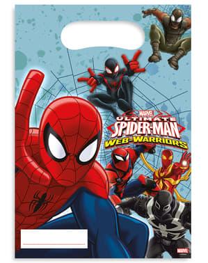 Sett med 6 Ultimate Spiderman Web Warrior Poser