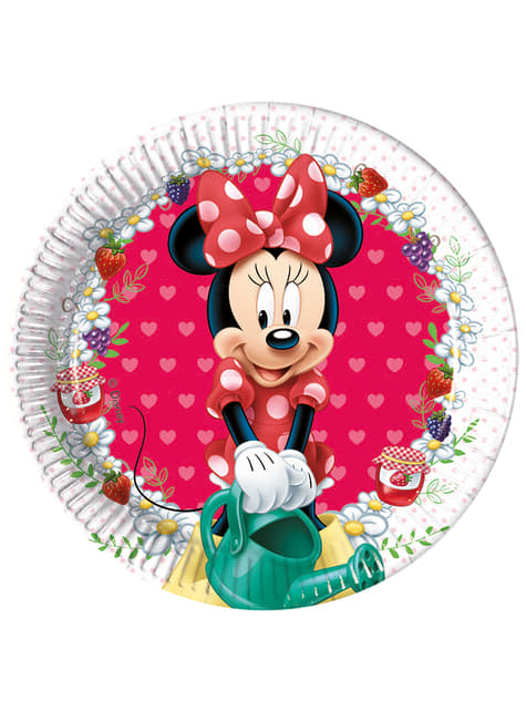8 assiettes Minnie Jam Packed with Love 20 cm