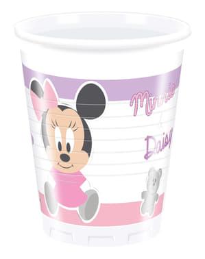 8 gobelets Infant Minnie