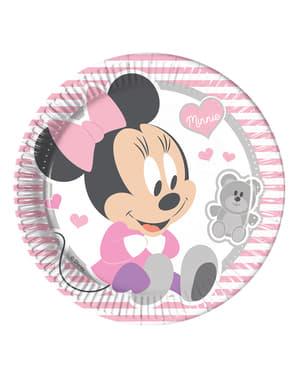 Комплект от 8 детски плочки Minnie 23cm