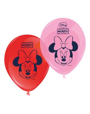8 balões Minnie Café (30 cm)