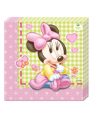 20 Serviettes en papier Baby Minnie