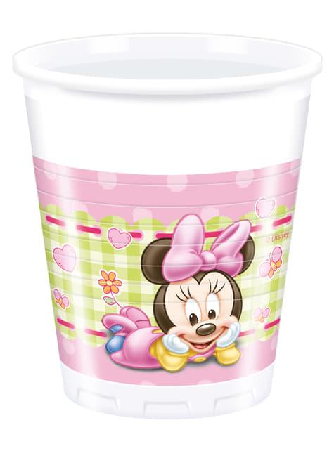 8 gobelets Baby Minnie