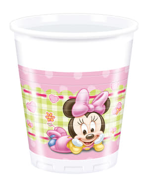 8 vasos Minnie Mouse - Baby Minnie