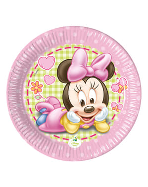 8 Baby Minnie Plates (20 cm) - Baby Minnie